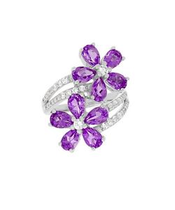 Lord & Taylor | Sterling Topaz And Amethyst Ring