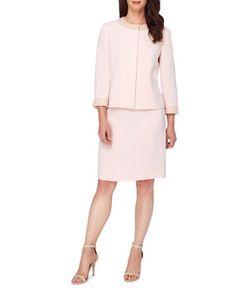 Tahari Arthur S. Levine | Pearl Embroide Jacket And Skirt Suit