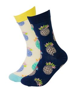 HAPPY SOCKS | Pineapple Crew Socks
