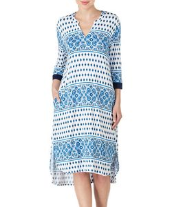 Ellen Tracy | Printed Long Tunic Nightgown