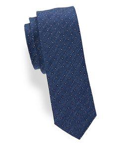 HUGO BOSS | Diamond-Patterned Silk Tie