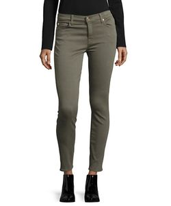 7 For All Mankind | Twill Skinny Ankle Jeans