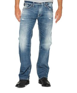 Silver Jeans | Zac Relaxed Fit Straight-Leg Jeans