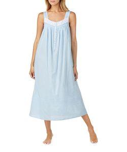 Eileen West   Swiss Dot Cotton Nightgown