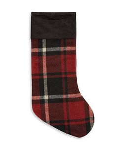 Glucksteinhome | Woodland Sparkle Plaid Holiday Stocking