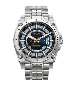 Bulova   Precisionist Stainless Steel Watch 96b131