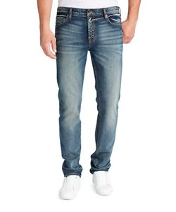 William Rast | Dean Slim-Fit Washed Five-Pocket Jeans