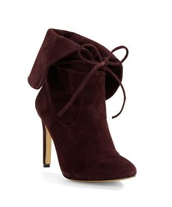 424 Fifth | Tallis Suede Lace-Up Booties