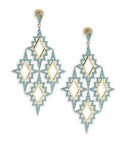 Noir | Turquoise Drop Earrings