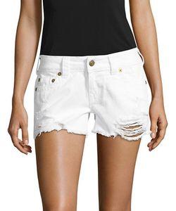 True Religion | Kiera Distressed Cut-Off Denim Shorts
