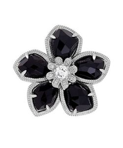 Lord & Taylor | Diamond Sterling And Onyx Ring