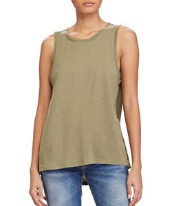 Polo Ralph Lauren | Solid Linen-Blend Tank Top