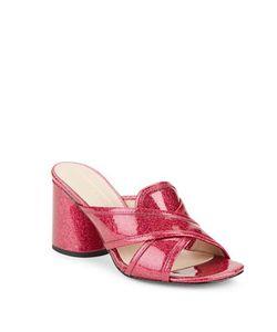 Marc Jacobs | Aurora Glitter Block Heel Sandals