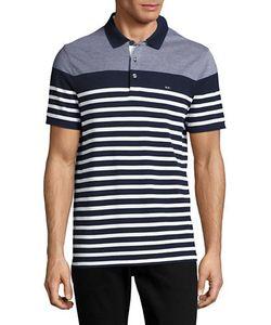Michael Kors | Striped Cotton Polo Shirt
