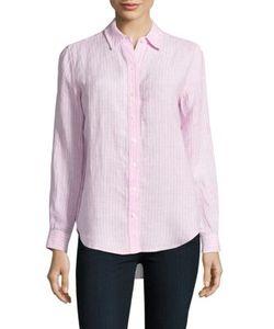 Lord & Taylor | Petite Striped Linen Shirt