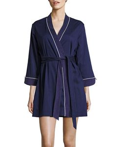 Kate Spade New York   Embroidered Cotton-Blend Robe