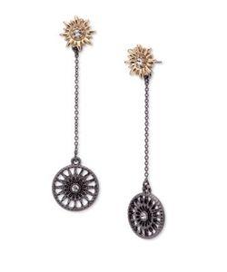 Jenny Packham | Two-Tone Linear Drop Earrings