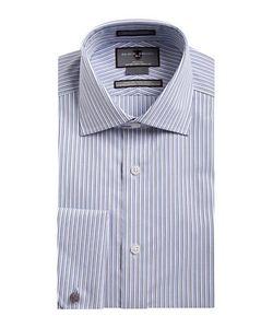 Black Brown | Non-Iron Slim-Fit Striped French Cuff Dress Shirt