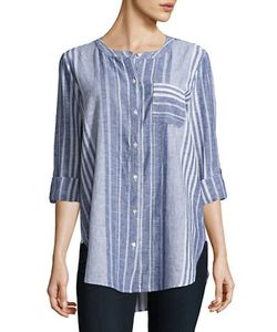 Two by VINCE CAMUTO | Striped Linen-Blend Shirt