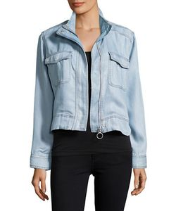 Calvin Klein Jeans | Zip-Front Chambray Jacket