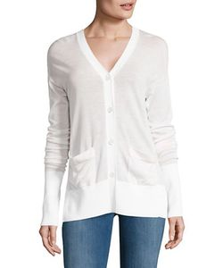 Dkny Pure | Split-Back Merino Wool Cardigan