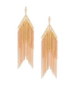 Noir   Tiered Fringe Drop Earrings
