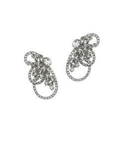 Jenny Packham   Swarovski Crystal Front Back Earrings