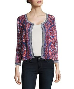 Nic+Zoe Petites | Picasso Printed Open-Front Cardigan