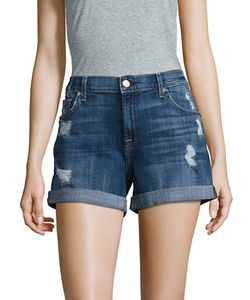 7 For All Mankind | Rolled-Cuff Five-Pocket Shorts