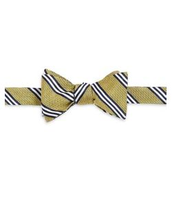 Brooks Brothers | Textured Striped Bow Tie