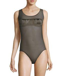 DKNY | Mesh Roundneck Bodysuit
