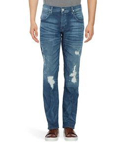 Hudson Jeans | Distressed Straight-Leg Jeans