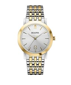 Bulova   Classic Two-Tone Stainless Steel Watch 98b221