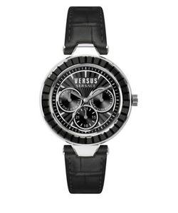 Versus | Sertie Stainless Steel Leather Strap Multifunction Watch Sos020015