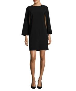 DKNY | Cape Sleeve Dress