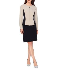 Tahari Arthur S. Levine | Two-Piece Colorblock Jacket And Skirt Set