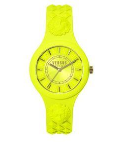Versus | Fire Island Goldtone Silicone Strap Watch