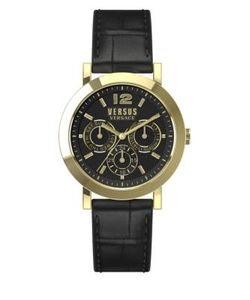 Versus | Manhasset Goldtone Stainless Steel Leather Strap Watch Sor020015