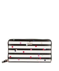 Kate Spade New York   Stripe And Dot Wallet