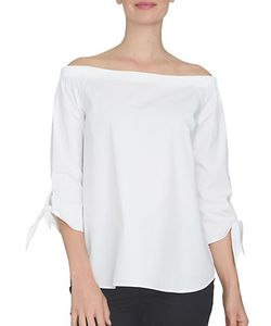 CeCe by Cynthia Steffe | Spring Meadow Off-The-Shoulder Cotton Shirt