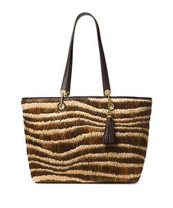 Michael Michael Kors | Tassel Accent Woven Handbag