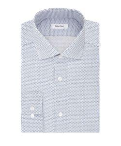 Calvin Klein | Printed Spread Collar Cotton Dress Shirt