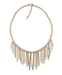 Jenny Packham | Crystal Embellished Fringe Collar Necklace