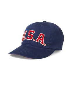 Polo Ralph Lauren   Usa Embroidered Patch Cap
