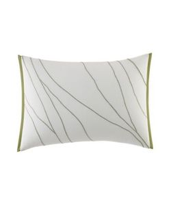 Vera Wang | Chevron Bedding Dragonfly Wing Embroidered Breakfast Decorative Pillow