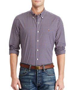 Polo Ralph Lauren   Standard-Fit Plaid Cotton Sportshirt