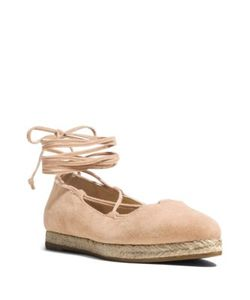 Michael Kors Collection | Cadence Suede Lace-Up Espadrille Flats