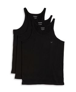 Emporio Armani | Cotton Crewneck Tank 3-Pack