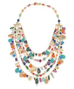 Lauren Ralph Lauren | Pop Style Semi-Precious Accent Layered Necklace