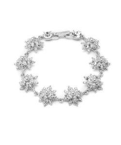 Marchesa | 3mm Man-Made Pearl Crystal Bracelet